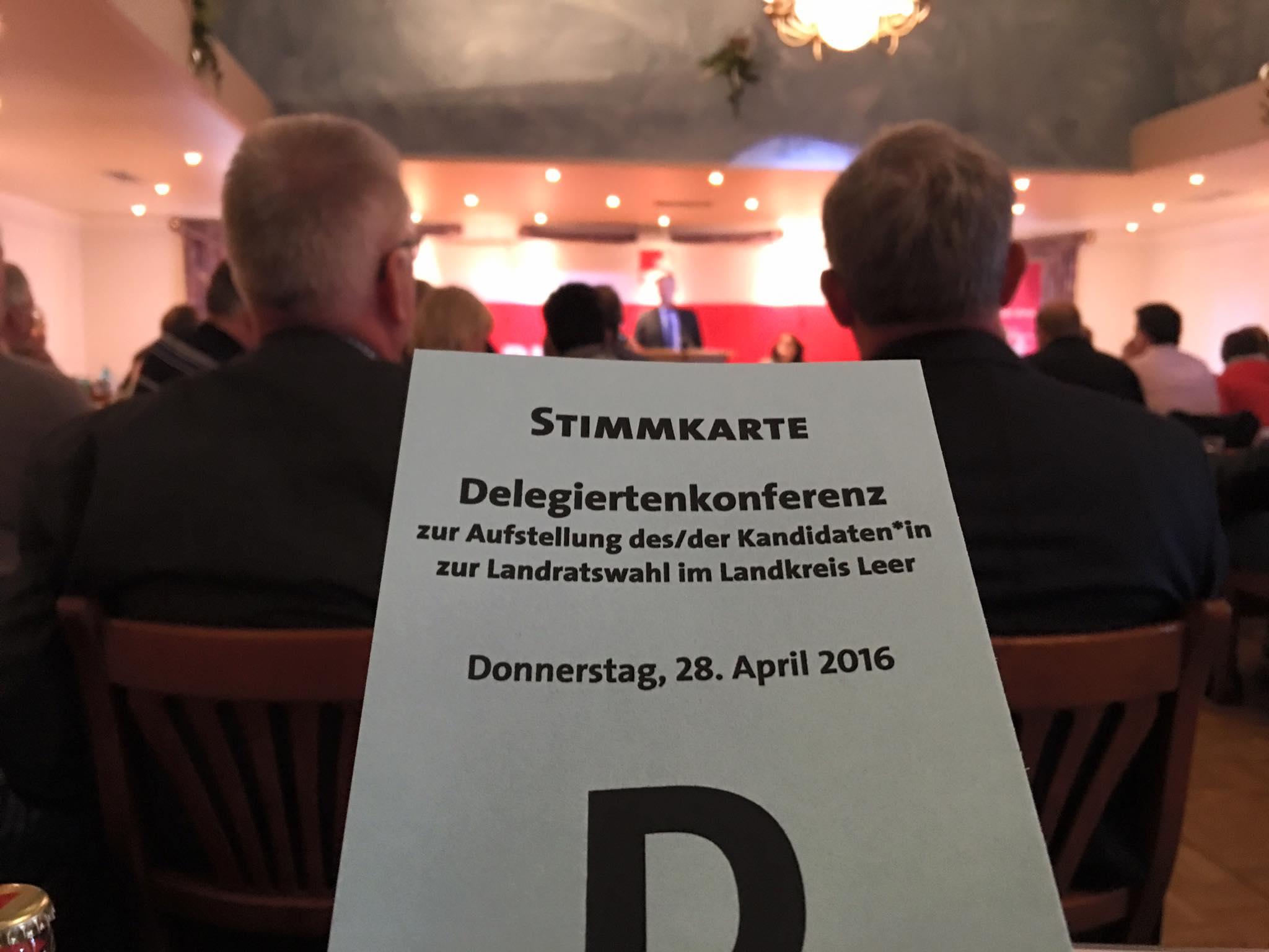 Delegiertenkonferenz zur Aufstellung des Landratskandidaten